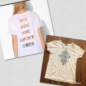 UO Truly Madly Deeply Lucky Ones Laser Cutout T